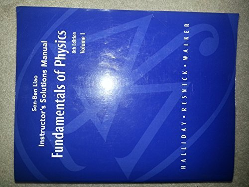 9780470114049: Sen-Ben Liao Instructor's Solutions Manual Fundamentals of Physics