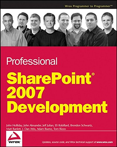 9780470117569: Professional SharePoint 2007 Development (Programmer to Programmer)