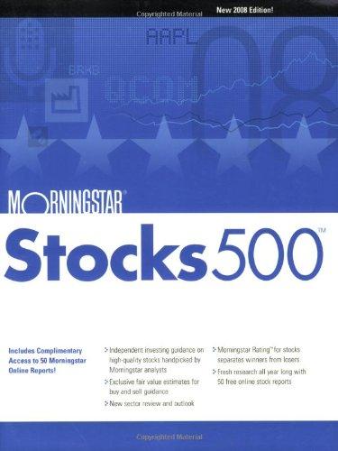 Morningstar Stocks 500: 2008 (0470121300) by Morningstar Inc.; Dorsey, Pat