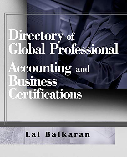 9780470124864: Directory of Global Professional Accounting and Business Certifications