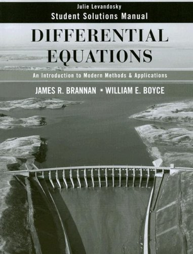 9780470125533: Differential Equations, Student Solutions Manual: An Introduction to Modern Methods and Applications