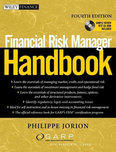 Financial Risk Manager Handbook (Wiley Finance): Jorion, Philippe; GARP (Global Association of Risk...