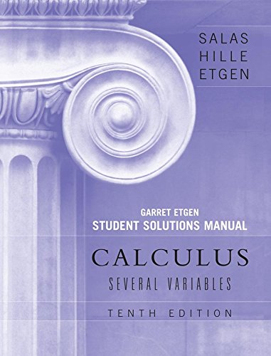 9780470127292: Student Solutions Manual to accompany Calculus: Several Variables, 10e (Chapters 13 - 19)