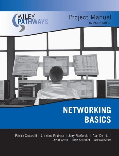 Wiley Pathways Networking Basics Project Manual (0470127996) by Patrick Ciccarelli; Frank Miller