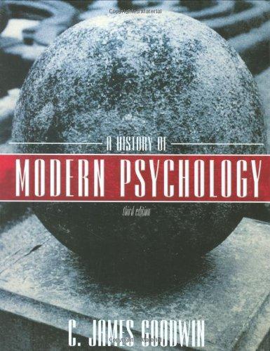 9780470129128: A History of Modern Psychology