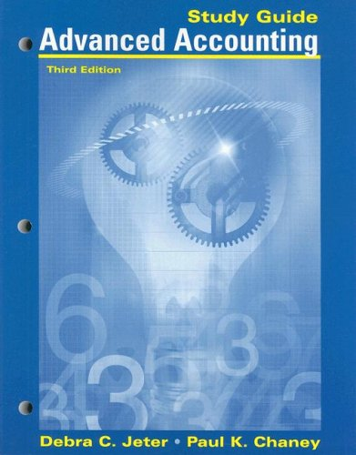 9780470130407: Advanced Accounting, Study Guide with Working Papers in Excel