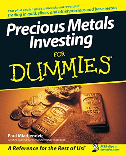 Precious Metals Investing For Dummies Paperback By Paul