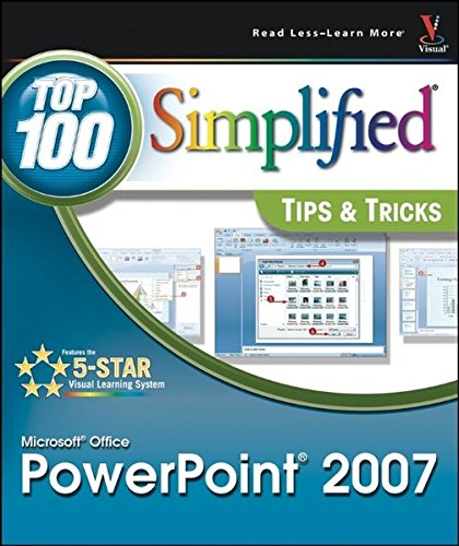 9780470131961: Microsoft Office PowerPoint 2007: Top 100 Simplified Tips & Tricks