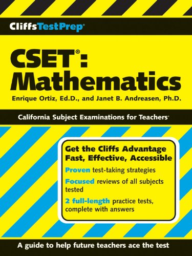 9780470131978: CliffsTestPrep CSET: Mathematics