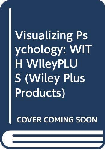 9780470132142: Visualizing Psychology: WITH WileyPLUS (Wiley Plus Products)
