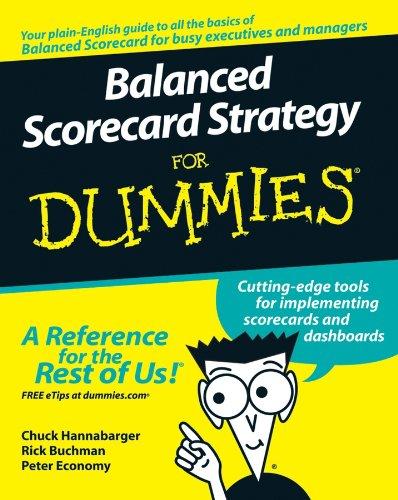 9780470133972: Balanced Scorecard Strategy For Dummies