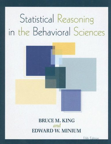 9780470134870: Statistical Reasoning in the Behavioral Sciences