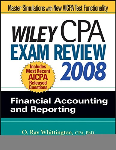 9780470135235: Wiley CPA Exam Review 2008: Financial Accounting and Reporting