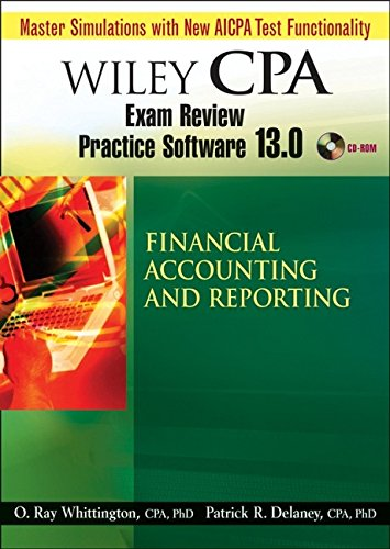 9780470135280: Wiley CPA Examination Review Practice Software 13.0 FAR