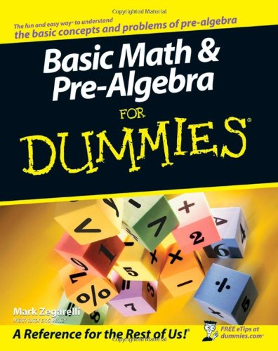 9780470135372: Basic Math and Pre-algebra For Dummies