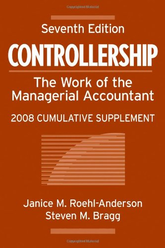 9780470135716: Controllership: The Work of the Managerial Accountant, 2008 Cumulative Supplement