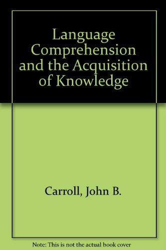 9780470135853: Language comprehension and the acquisition of knowledge