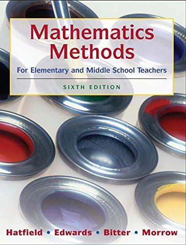 9780470136294: Mathematics Methods for Elementary and Middle School Teachers
