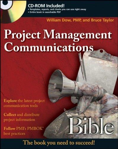 9780470137406: Project Management Communications Bible