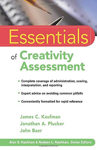 Essentials of Creativity Assessment (0470137428) by James C. Kaufman; John Baer; Jonathan A. Plucker