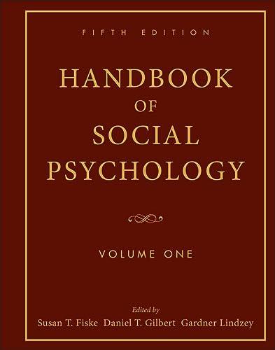9780470137482: 1: Handbook of Social Psychology: Volume One