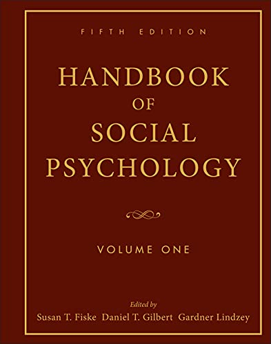 9780470137482: Handbook of Social Psychology: Volume One
