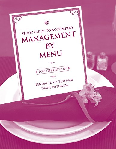 9780470140536: Study Guide to accompany Management by Menu, 4e