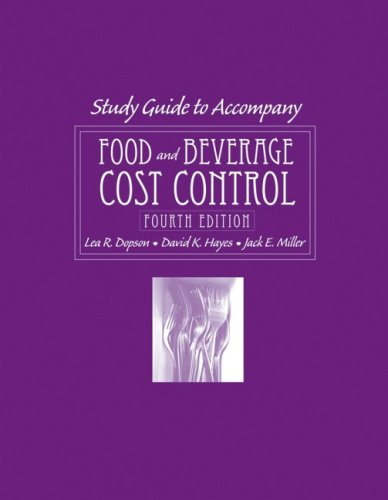 9780470140581: Food and Beverage Cost Control Study Guide