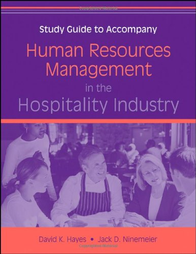 9780470140604: Human Resources Management in the Hospitality Industry, Study Guide