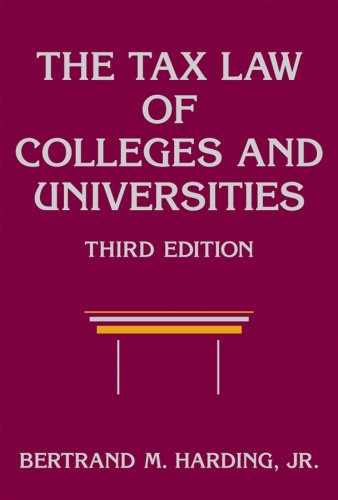 9780470146095: The Tax Law of Colleges and Universities