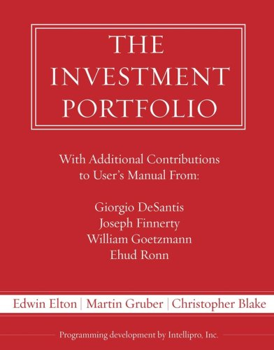 9780470146910: The Investment Portfolio Users Manual and Software