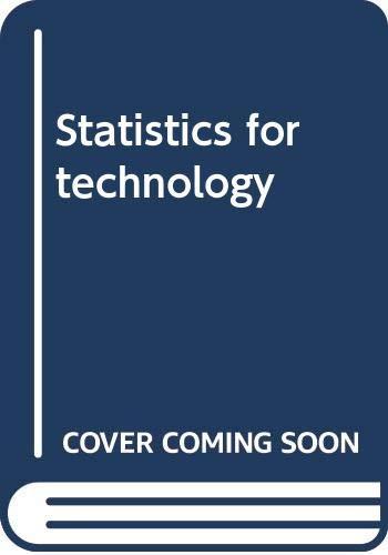 9780470149324: Statistics for technology