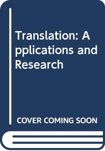 9780470149942: Translation: Applications and Research