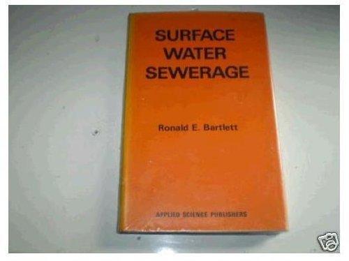 9780470150207: Surface water sewerage
