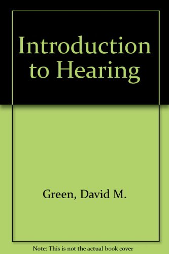 9780470151884: Introduction to Hearing