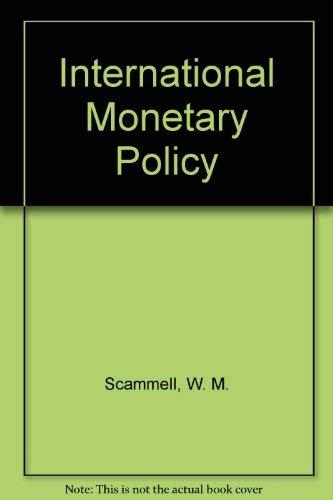 9780470151976: International Monetary Policy