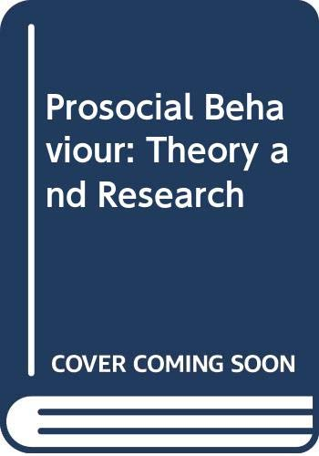 9780470152232: Prosocial Behaviour: Theory and Research