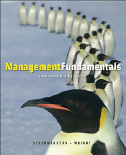 9780470160541: Management Fundamentals Canadian Edition