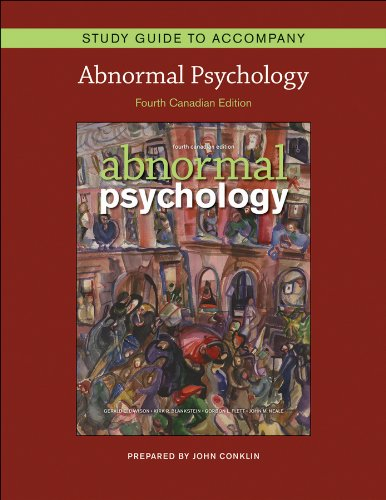9780470161043: Abnormal Psychology, Study Guide