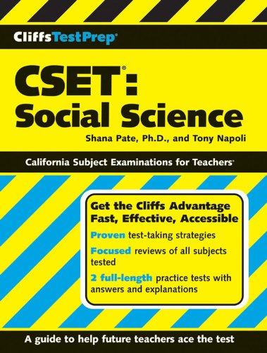 9780470165010: CliffsTestPrep CSET: Social Science
