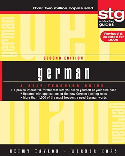 9780470165515: German: A Self-Teaching Guide