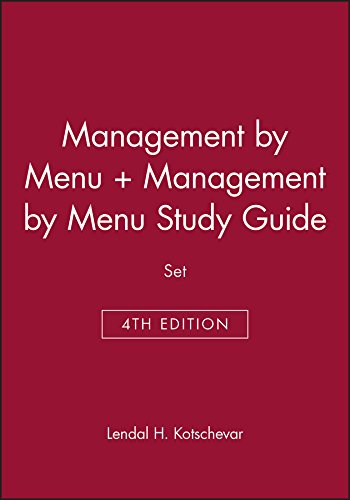 9780470167700: Management by Menu + Study Guide: