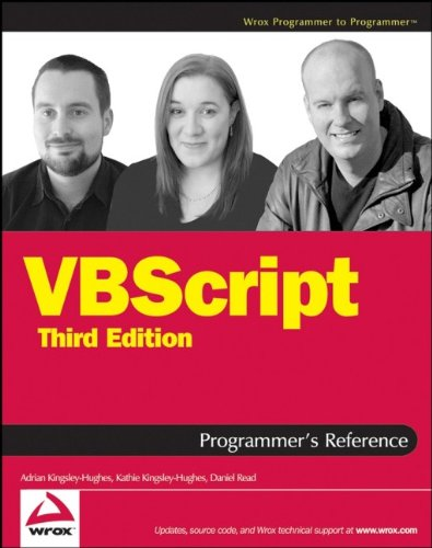 9780470168080: VBScript Programmer's Reference (Programmer to Programmer)