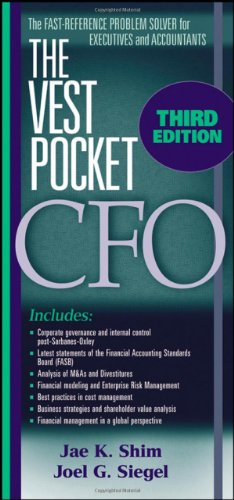 The Vest Pocket CFO (0470168129) by Jae K. Shim; Joel G. Siegel