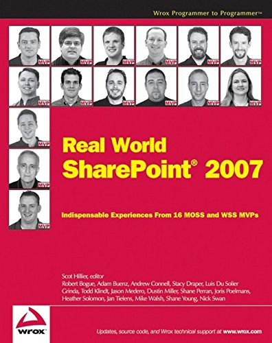 9780470168356: Real World SharePoint 2007: Indispensable Experiences Fro 16 Moss and Wss Mvps