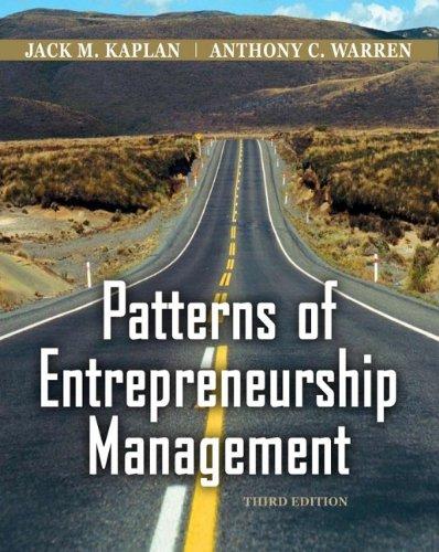 9780470169698: Patterns of Entrepreneurship Management