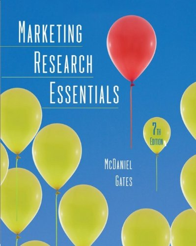 Marketing Research Essentials: Carl McDaniel Jr.,