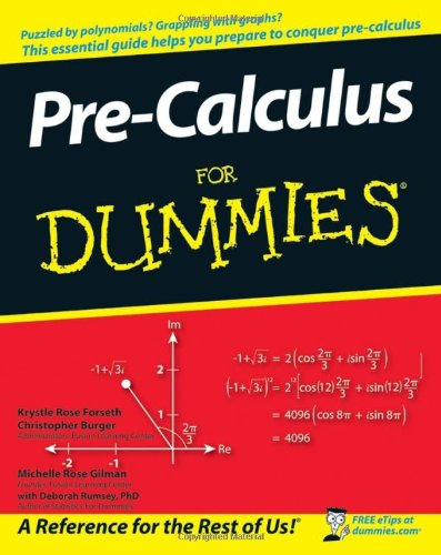 9780470169841: Pre-Calculus For Dummies