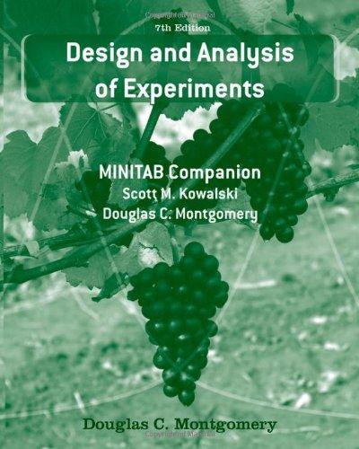 Design and Analysis of Experiments: MINITAB Companion: Montgomery, Douglas C.; Kowalski, Scott M.