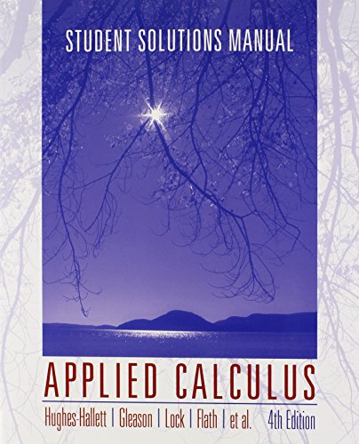 9780470170533: Applied Calculus, Student Solutions Manual